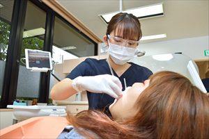 歯科衛生士さんによるスケーリング処置